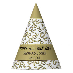Personalize Over The Hill 70th Birthday Theme Party Hat