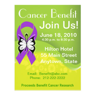 Personalize Pancreatic Cancer Fundraising Benefit Full Colour Flyer