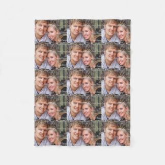Personalize photo make your own fleece blanket