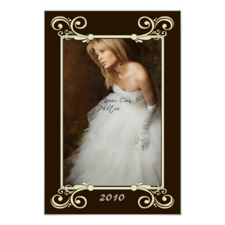 Personalize Photo Mat Border - Wedding Frame Poster
