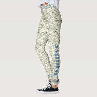 Personalize:  Picture of Garter Stitch Knitting Leggings