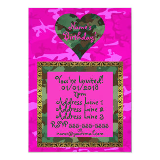 Personalize - Pink Camo Card