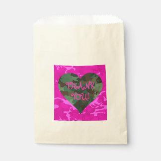 Personalize - Pink Camo Favour Bag