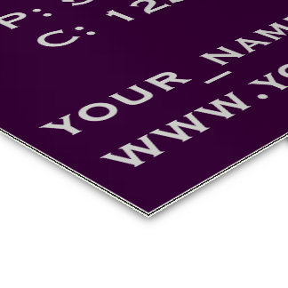 Personalize Purple Elegance Business Cards