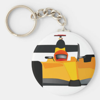 Personalize Race Car Birthday Party Gifts Basic Round Button Keychain