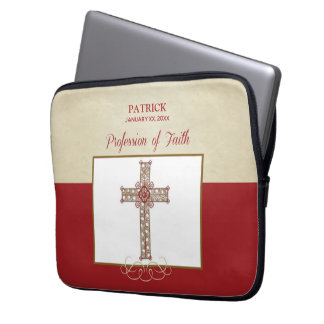 Personalize, RCIA Blessings on Profession of Faith Laptop Sleeve