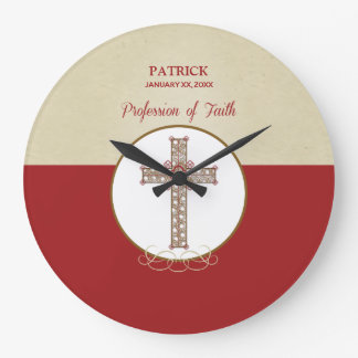 Personalize, RCIA Blessings on Profession of Faith Large Clock