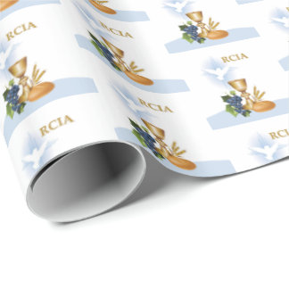 Personalize, RCIA Congrats Catholic Sacrament Wrapping Paper
