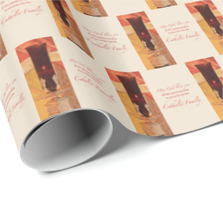 Personalize, RCIA Congratulations, Catholic, Red Wrapping Paper