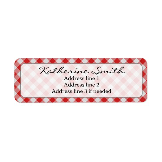 Personalize: Red and White Gingham Check Pattern