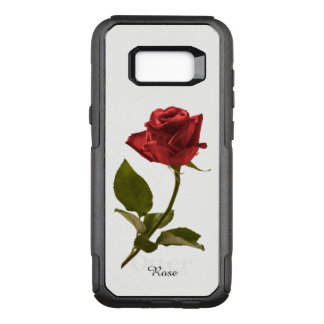 Personalize:  Red Rose Nature Photography OtterBox Commuter Samsung Galaxy S8+ Case