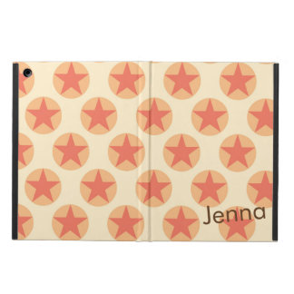 Personalize Red Star Pattern by storeman Cover For iPad Air