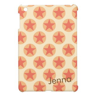 Personalize Red Star Pattern by storeman iPad Mini Cover
