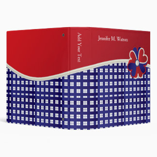 Personalize Red White and Blue Weave Binder