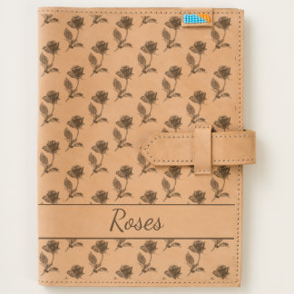 Personalize Rose Picture Pattern Etched on Leather