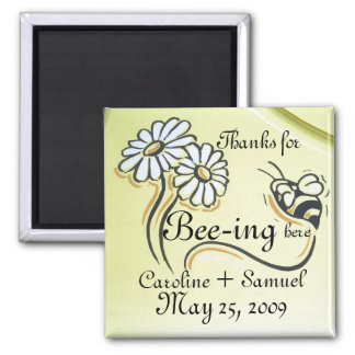 PERSONALIZE SAVE THE DATE SQUARE MAGNET