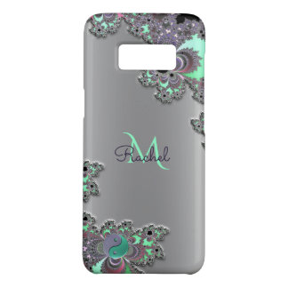 Personalize Silver Metallic Fractal Galaxy S8 Case