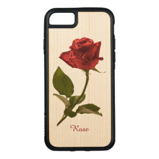 Personalize: Single Red Rose Floral Photography Carved iPhone 8/7 Case