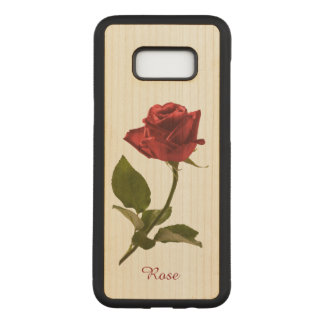 Personalize: Single Red Rose Floral Photography Carved Samsung Galaxy S8+ Case