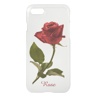 Personalize: Single Red Rose Floral Photography iPhone 8/7 Case