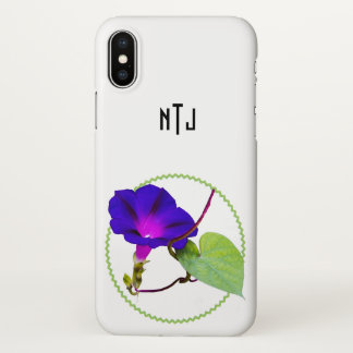 Personalize: Single Red Rose Floral Photography iPhone X Case