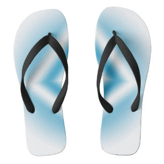 Personalize-sky blue diamond gradient flip flops