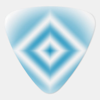 Personalize-sky blue diamond gradient guitar pick