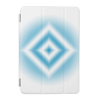 Personalize-sky blue diamond gradient iPad mini cover