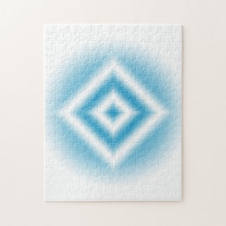 Personalize-sky blue diamond gradient jigsaw puzzle