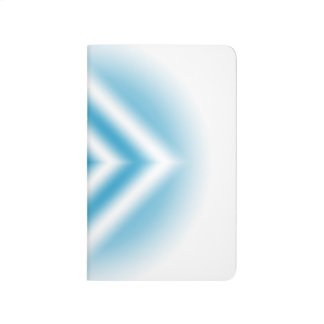 Personalize-sky blue diamond gradient journal