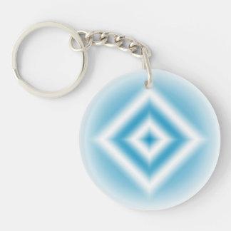 Personalize-sky blue diamond gradient keychain