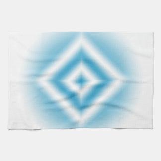 Personalize-sky blue diamond gradient kitchen towel
