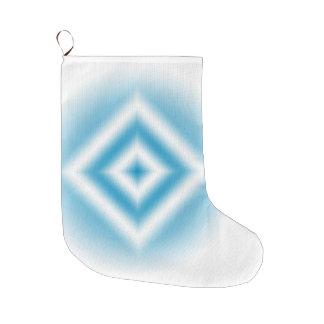 Personalize-sky blue diamond gradient large christmas stocking
