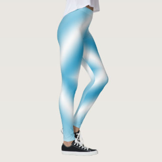 Personalize-sky blue diamond gradient leggings