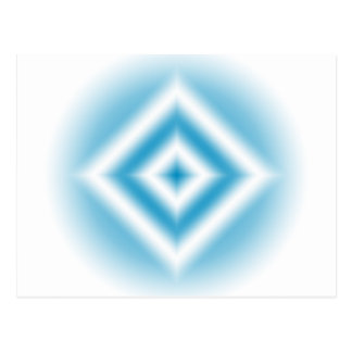 Personalize-sky blue diamond gradient postcard