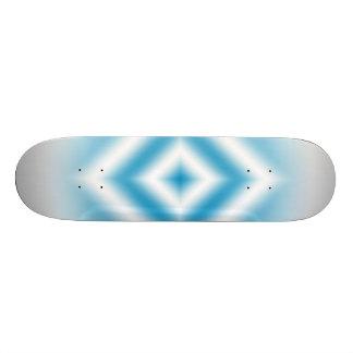Personalize-sky blue diamond gradient skate decks