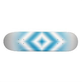 Personalize-sky blue diamond gradient skateboard