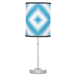 Personalize-sky blue diamond gradient table lamp