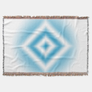 Personalize-sky blue diamond gradient throw blanket