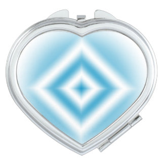 Personalize-sky blue diamond gradient travel mirrors