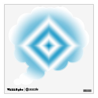 Personalize-sky blue diamond gradient wall decal