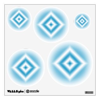 Personalize-sky blue diamond gradient wall sticker