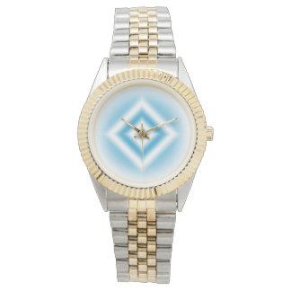 Personalize-sky blue diamond gradient watches