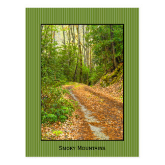 Personalize: Smoky Mountains Back Road Photography Postcard
