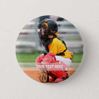 Personalize Sports Photo 2 Inch Round Button