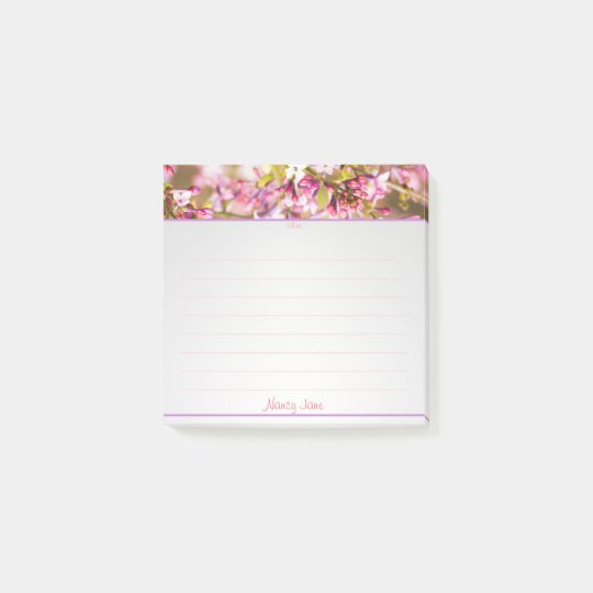 Personalize:  Spring Lilac Floral Photography Post-it® Notes