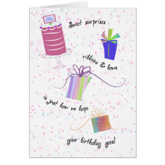 Personalize Sweet Surprises Birthday Card