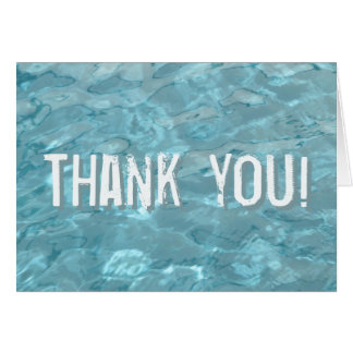 Personalize: Swimming Pool Water - Summer Abstract Card