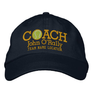 Personalize Tennis Coach Cap Your Name Your Game Embroidered Baseball Cap