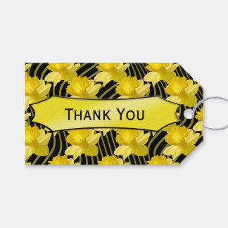 """Personalize:  """"Thank you"""" Daffodils Gift Tag"""